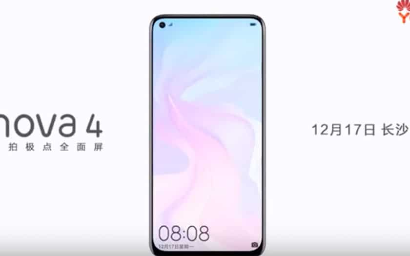 here is the first official video of the smartphone with a hole in the screen