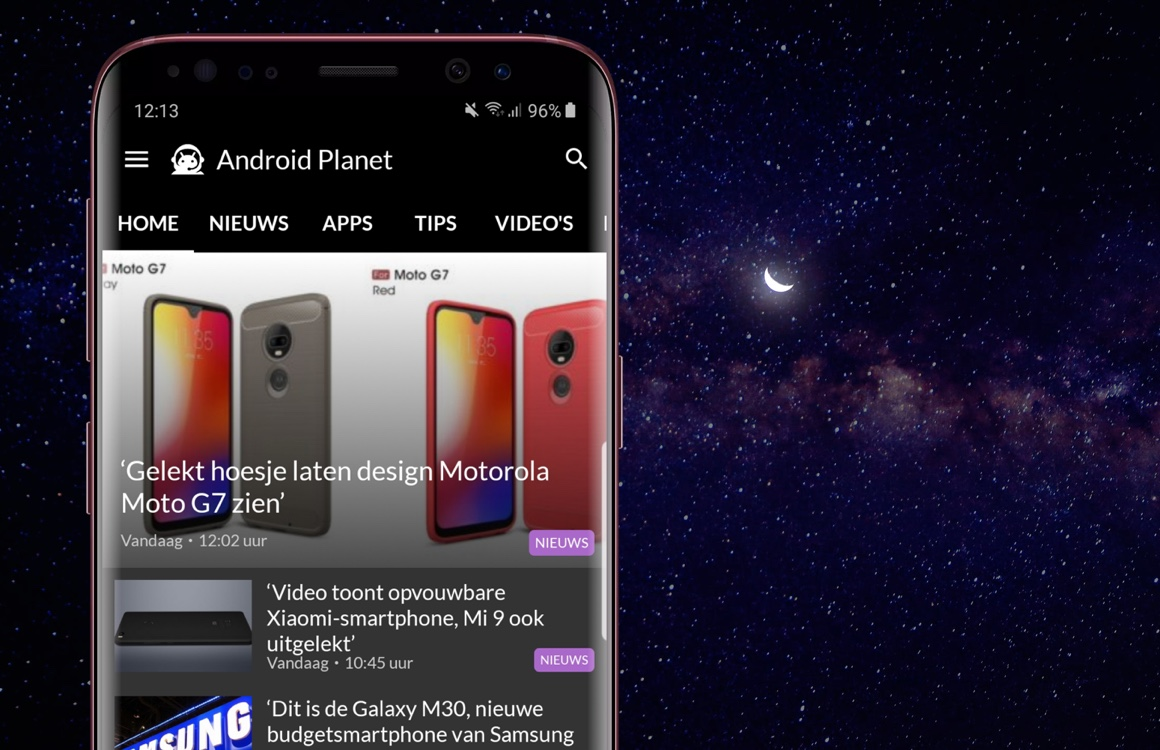 Samsung Galaxy S10 image and Motorola Moto G7