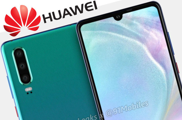 Huawei P30's first renders are in the world: The design of the phone does not surprise