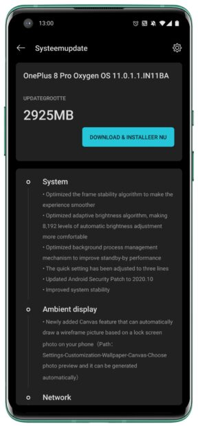 Android 11 update OnePlus 8 Pro