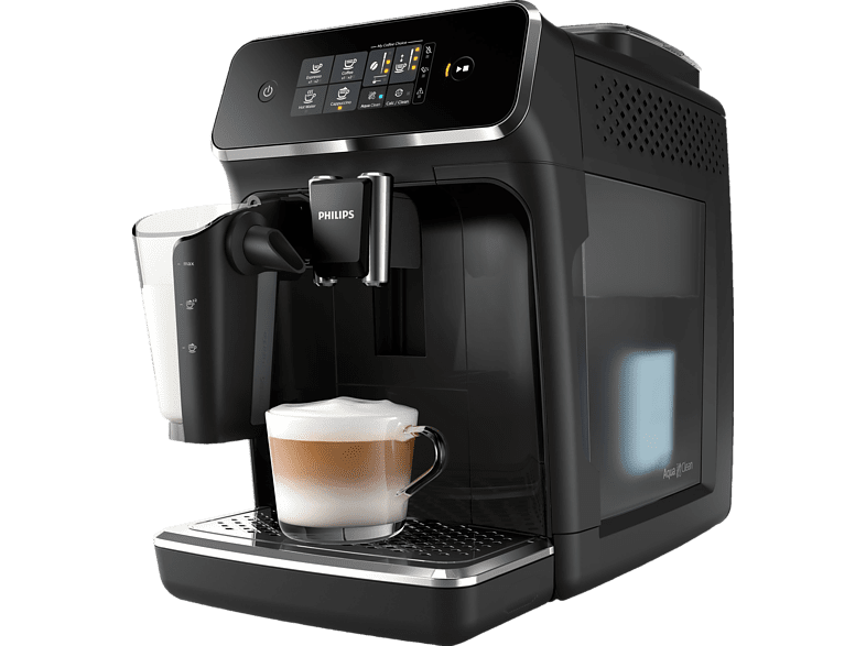 PHILIPS EP 2231/40 2200 LatteGo fully automatic coffee machine matt black / piano lacquer black