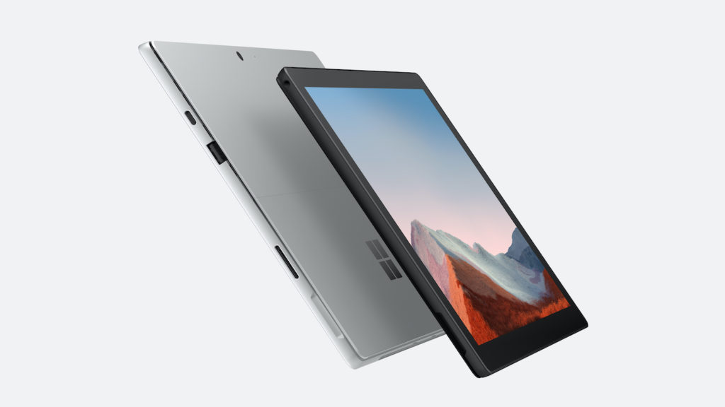 Surface Pro 7 Plus Front Rear