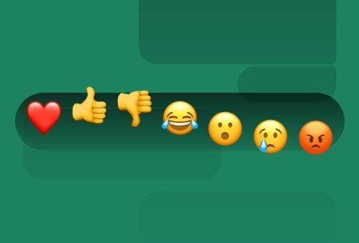 Signal Messenger (Beta) unterstützt seit 2020 Reaktionen. (Screenshot: Signal; t3n)