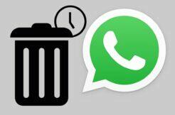 WhatsApp automatic message deletion