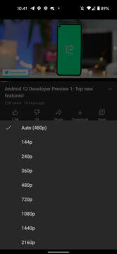 Android YouTube 4K on all mobile phones