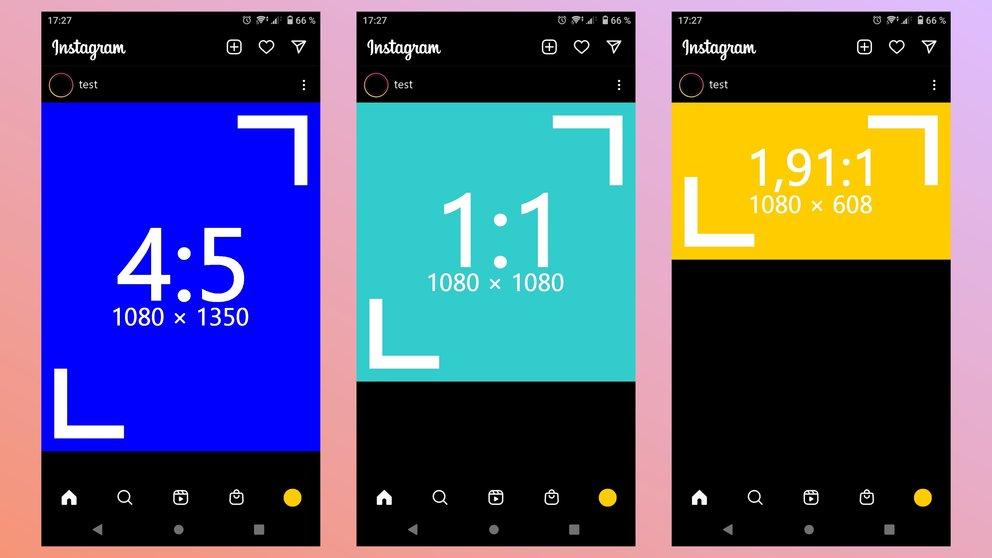 Instagram format aspect ratio resolution