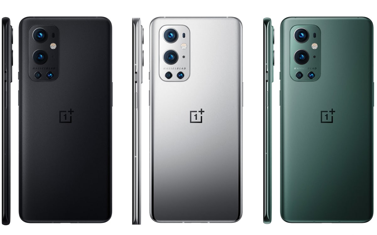 OnePlus 9 color black silver green